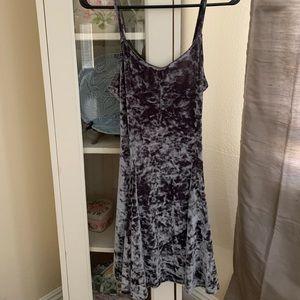 Urban Renewal charcoal crushed velvet dress